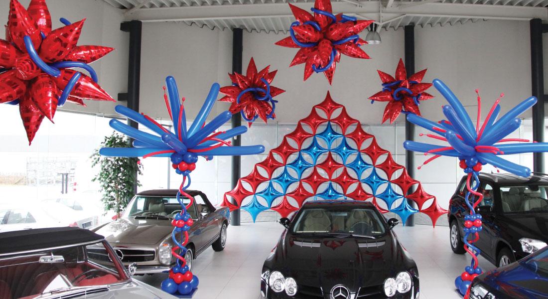 Balloner og biler
