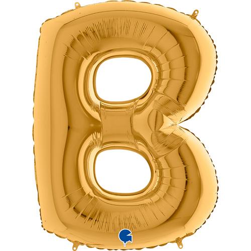 guld bogstav B 102 cm