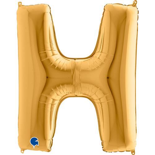 guld bogstav H 102 cm
