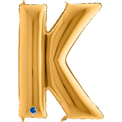 guld bogstav K 102 cm