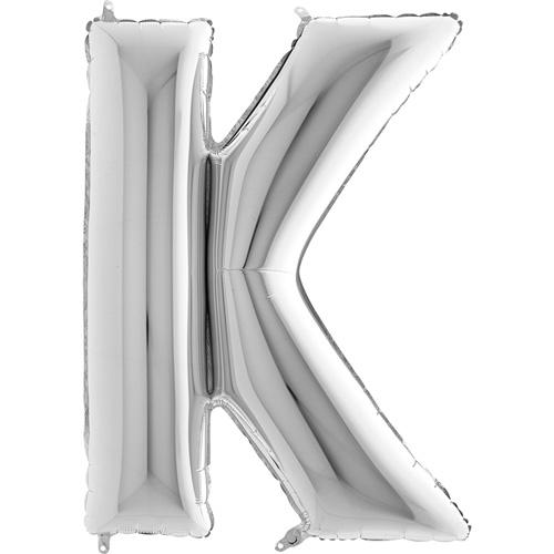 sølv bogstav K 102 cm