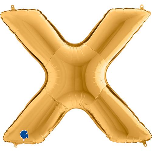 guld bogstav X 102 cm