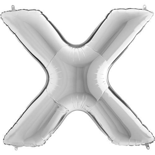 sølv bogstav X 102 cm