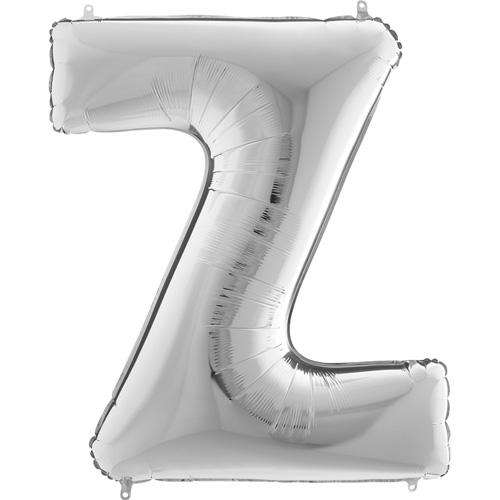 sølv bogstav Z 102 cm