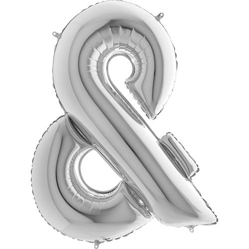 sølv bogstav & 102 cm