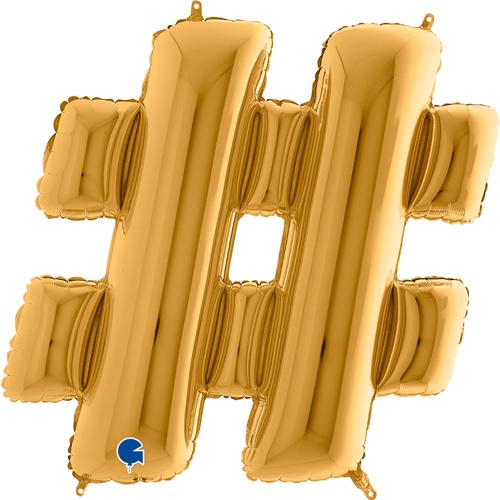 guld bogstav # 102 cm