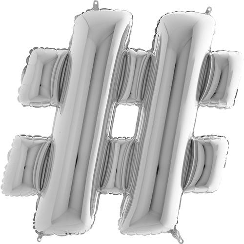 sølv bogstav # 102 cm